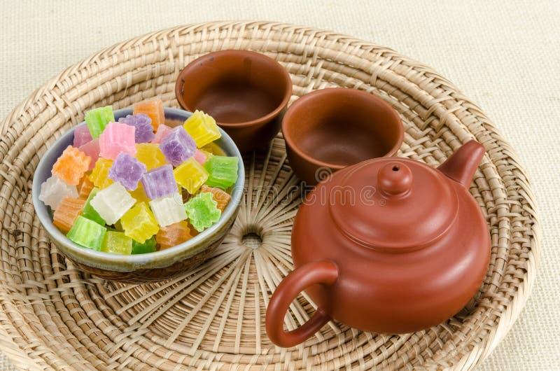 Knapperig gelei Thais dessert stock foto