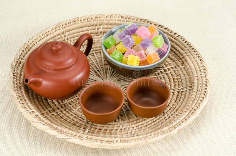 Knapperig gelei Thais dessert royalty-vrije stock afbeeldingen