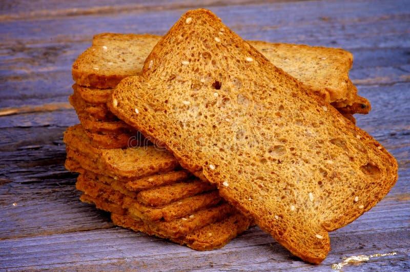 Knapperige Broodplakken royalty-vrije stock afbeeldingen