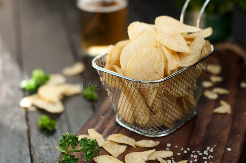 Knapperige chips royalty-vrije stock foto