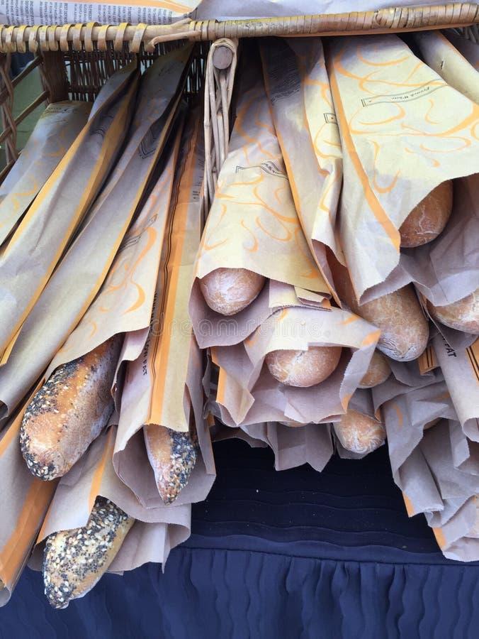 Knapperige Franse baguettes stock afbeelding