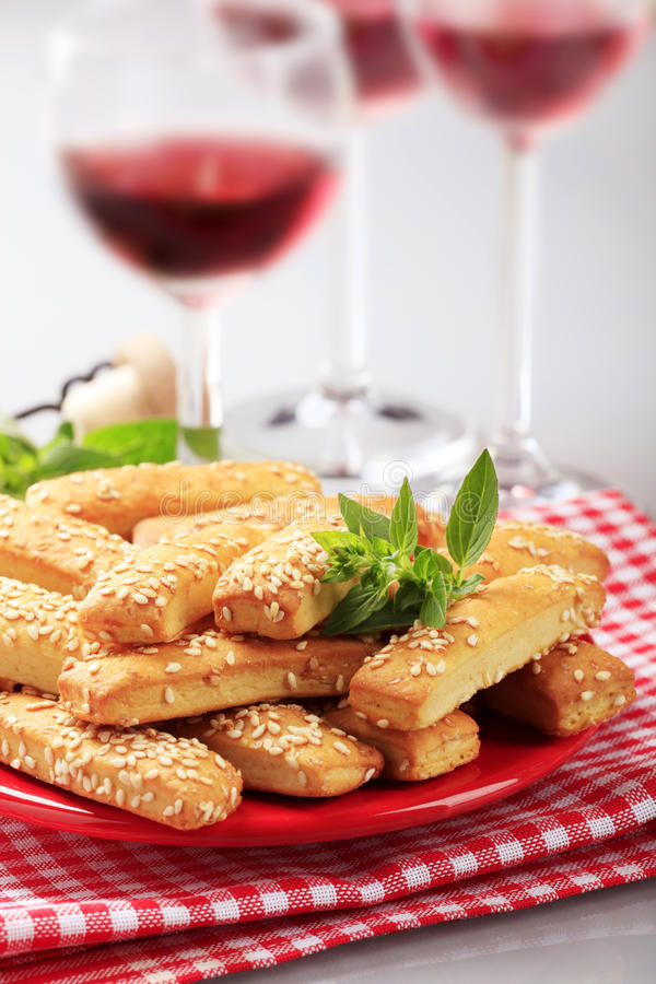 Knapperige snacks royalty-vrije stock afbeelding