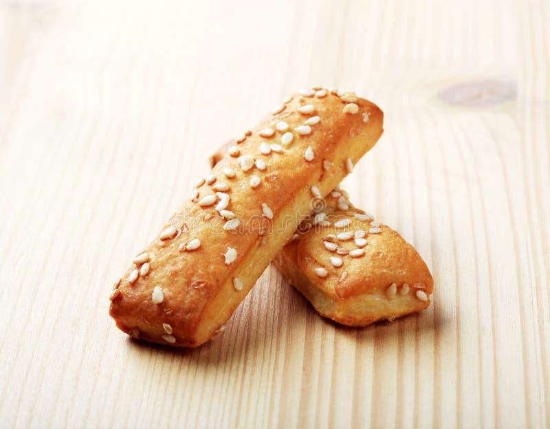 Knapperige snacks stock foto's