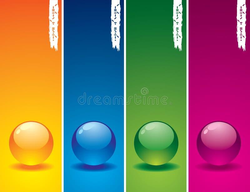 knappexponeringsglasset vektor illustrationer
