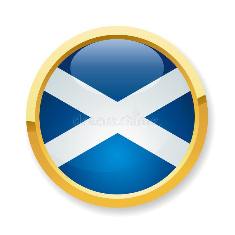 knappflagga scotland royaltyfri illustrationer