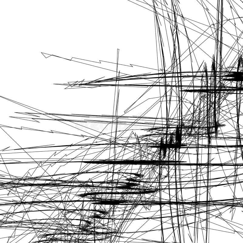 Knapphändiga linjer konstbild Modellen med slumpmässigt klottrar/knapphändigt stock illustrationer