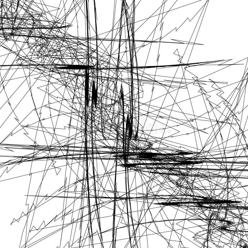 Knapphändiga linjer konstbild Modellen med slumpmässigt klottrar/knapphändigt vektor illustrationer