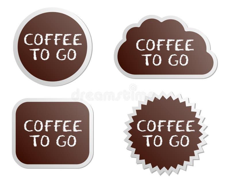 knappkaffe går till vektor illustrationer