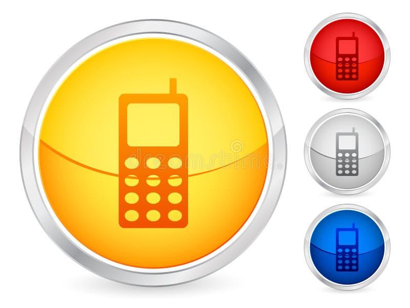 knappmobiltelefon vektor illustrationer