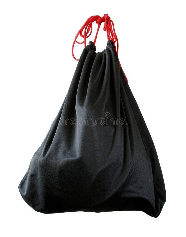 Knapsack. Black sport knapsack isolated on white stock photos