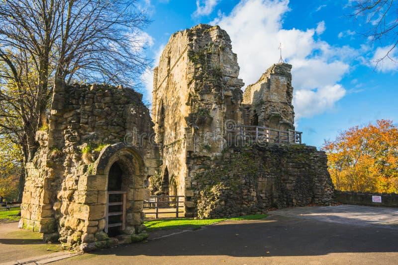 A Knaresborough castle ruin during summer stock photography