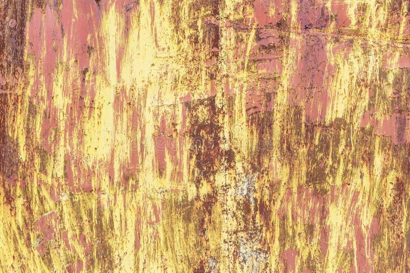 Knastra av målarfärg på en metallbakgrund fotografering för bildbyråer