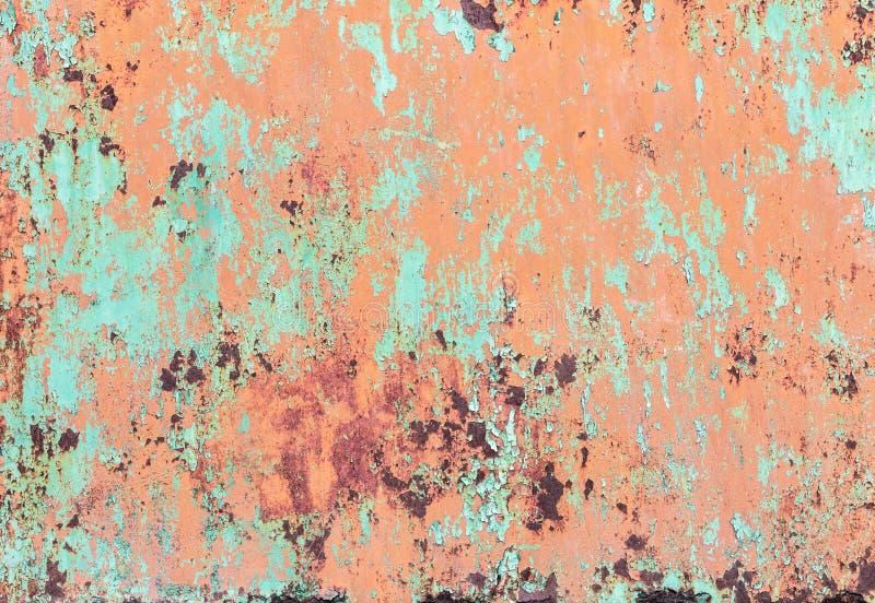 Knastra av målarfärg på en metallbakgrund royaltyfri fotografi