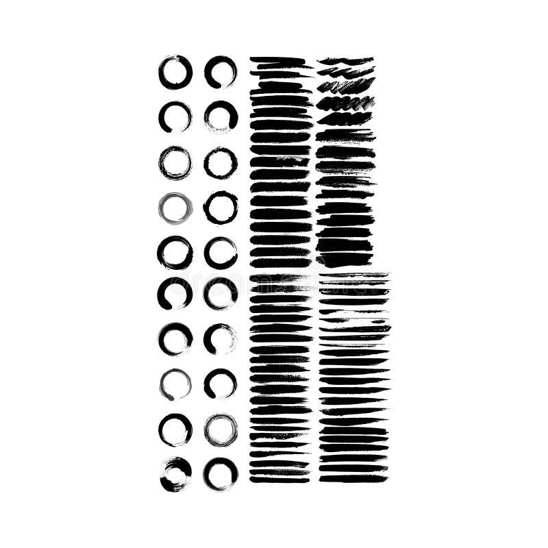 Knastrande- och grungelogosamling stock illustrationer