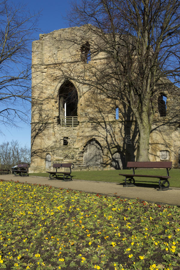 Knearsborough城堡-北约克郡-英国 库存照片