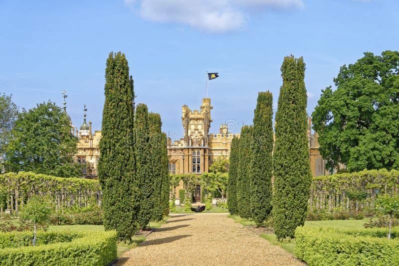 Knebworth hus och trädgårdar royaltyfri fotografi