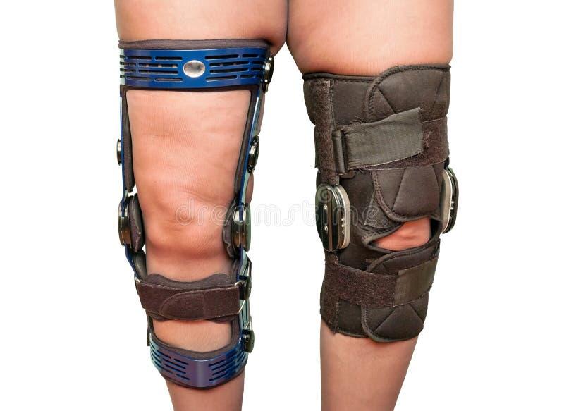 Knee braces royalty free stock photos