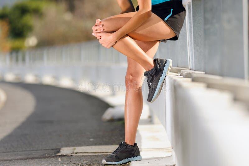 Knee injury royalty free stock photo