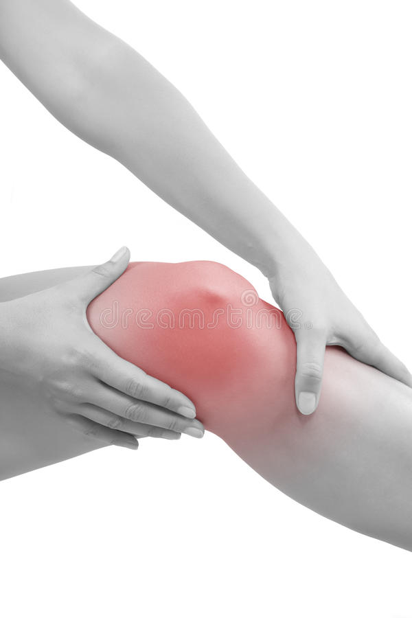 Knee injury. stock image