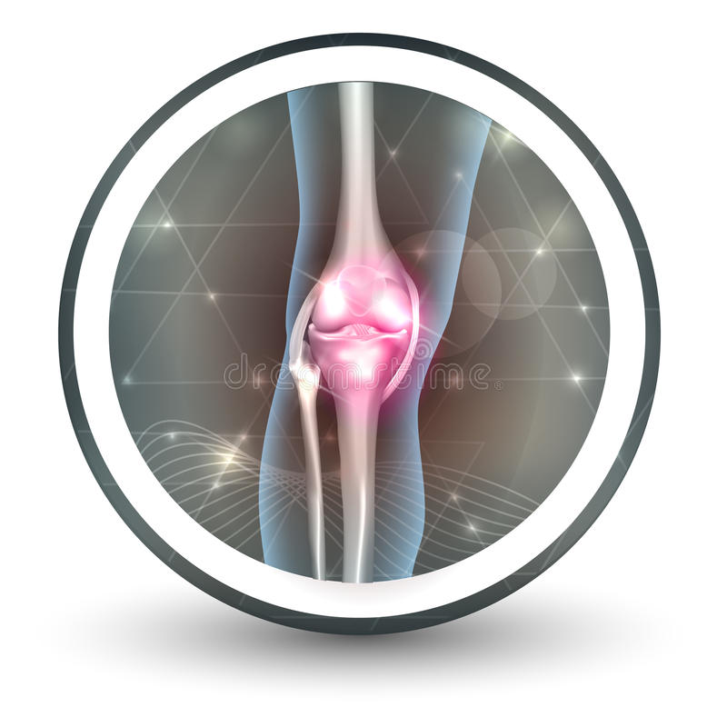 Knee joint health care icon royalty free illustration