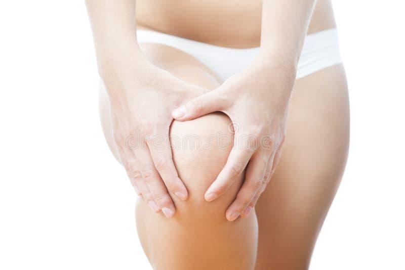 Knee pain stock image