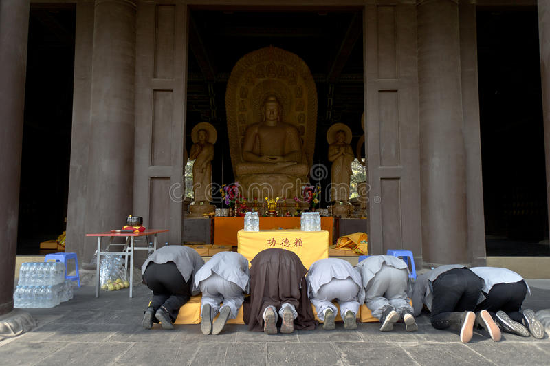 Download Kneel and pray editorial stock photo. Image of datong - 22896953