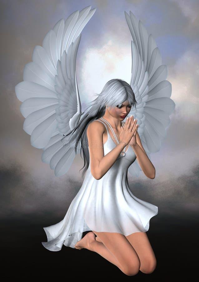 kneeling ангела иллюстрация штока