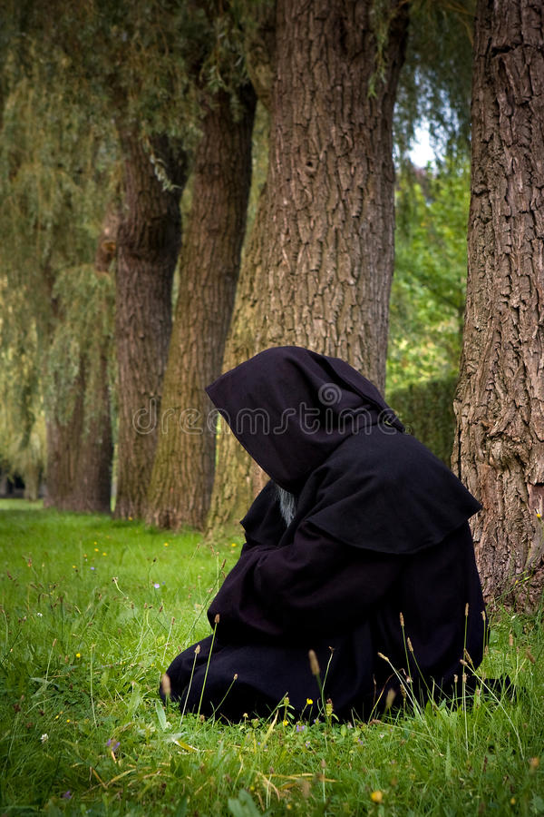 Download Kneeling Monk Stock Photo - Image: 10713640