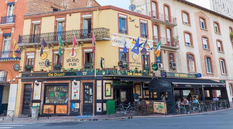 Kneipe De Danu Irish in Toulouse stockfoto