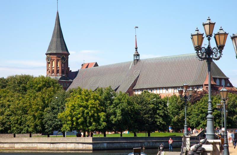 Kneiphof met Konigsberg-Kathedraal in Kaliningrad, Rusland royalty-vrije stock fotografie