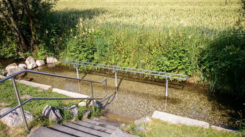 Kneipp hydroterapia dla wodny deptać obrazy royalty free