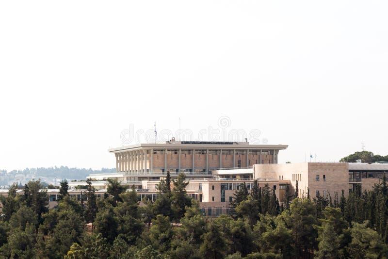 Knesset: Het Israëlische Parlementsgebouw royalty-vrije stock foto
