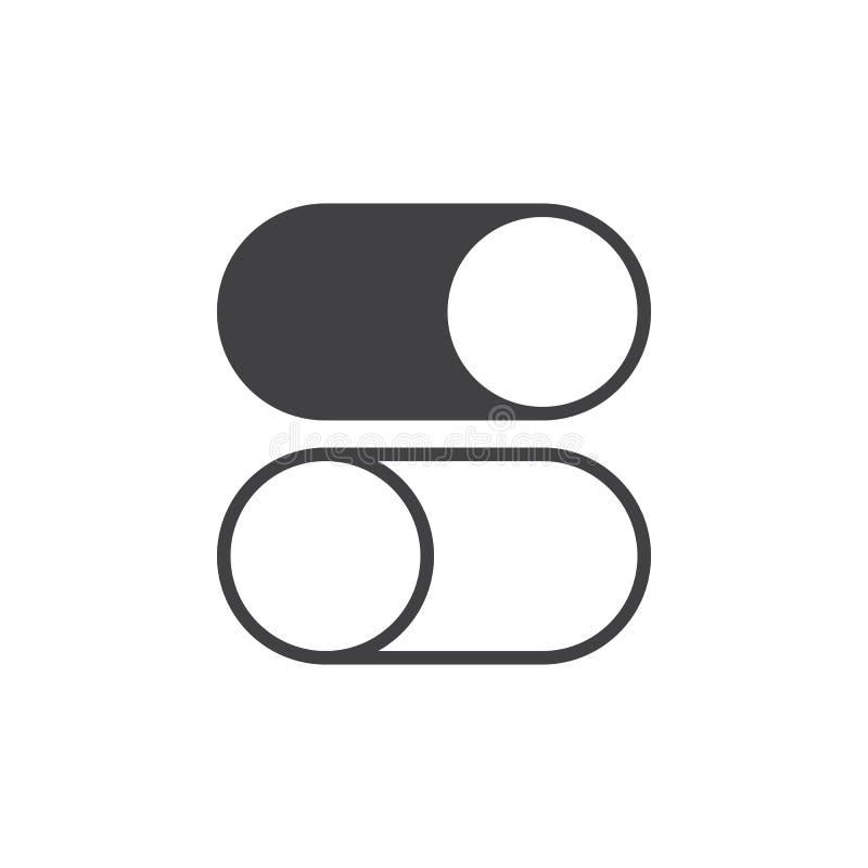 Knevel aan en uit pictogram, stevige embleemillustratie, pictogra vector illustratie