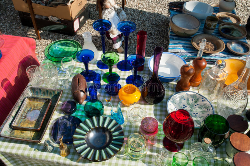 Knick Knack at a flea market. Decorative Knick Knack at a flea market stand royalty free stock images