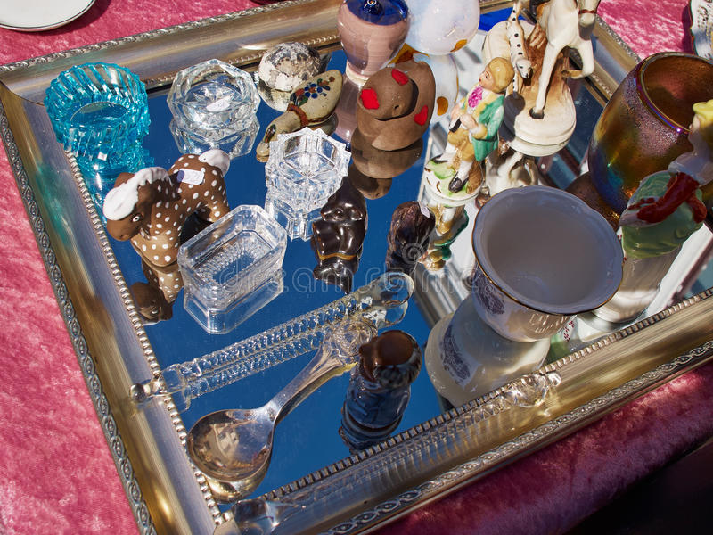 Knick Knack at a flea market. Decorative Knick Knack at a flea market stand royalty free stock photography