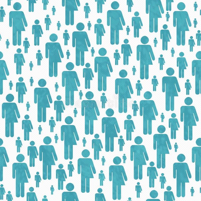 Knickente und weißer Transgender-Symbol-Fliesen-Muster-Wiederholungs-Hintergrund lizenzfreie abbildung