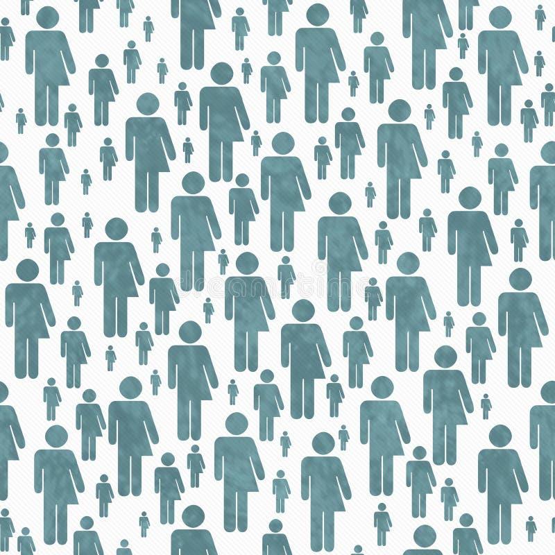 Knickente und weißer Transgender-Symbol-Fliesen-Muster-Wiederholungs-Hintergrund stockfotografie
