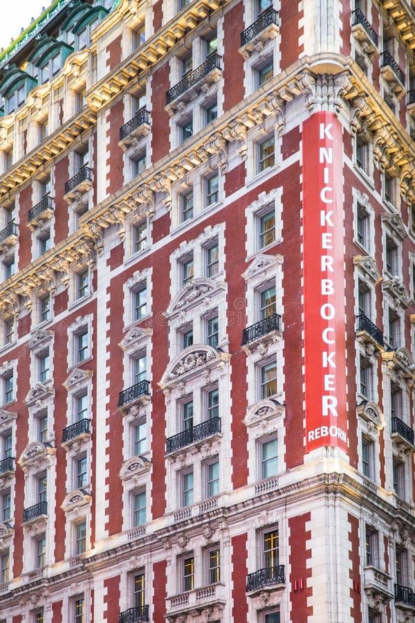 Knickerbocker hotell NYC fotografering för bildbyråer