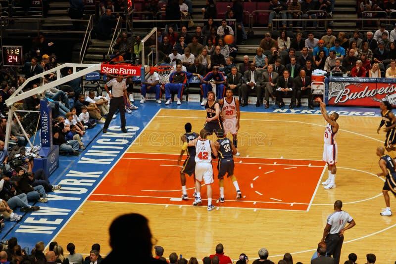 Knicks x Indiana Pacers Madison Square Garden fotografía de archivo libre de regalías
