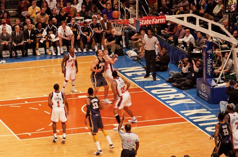 Knicks x Indiana Pacers Madison Square Garden foto de archivo libre de regalías