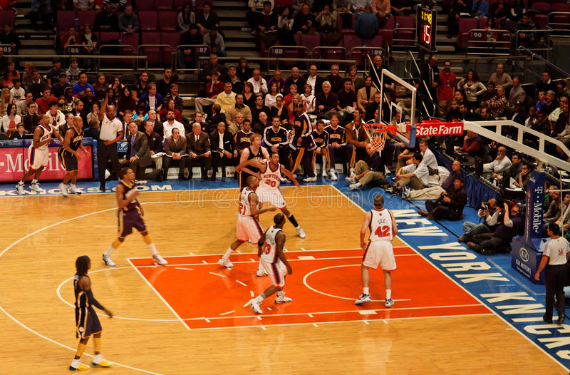 Knicks x Indiana Pacers Madison Square Garden fotografia stock