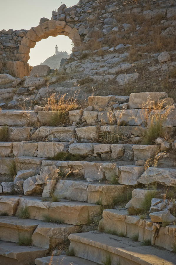 Knidos, Turkije royalty-vrije stock afbeeldingen