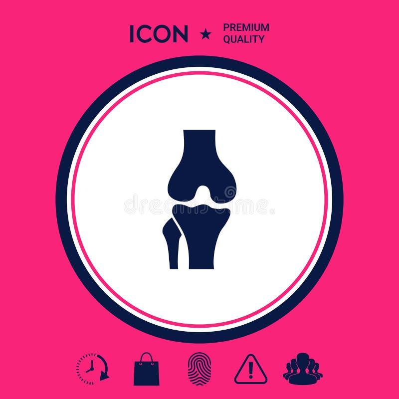 Knie gezamenlijk pictogram stock illustratie