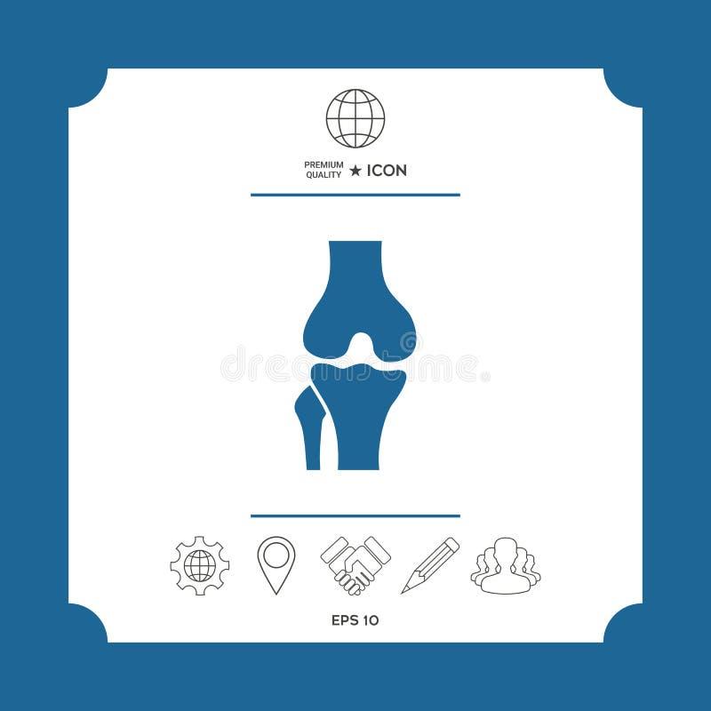 Knie gezamenlijk pictogram vector illustratie