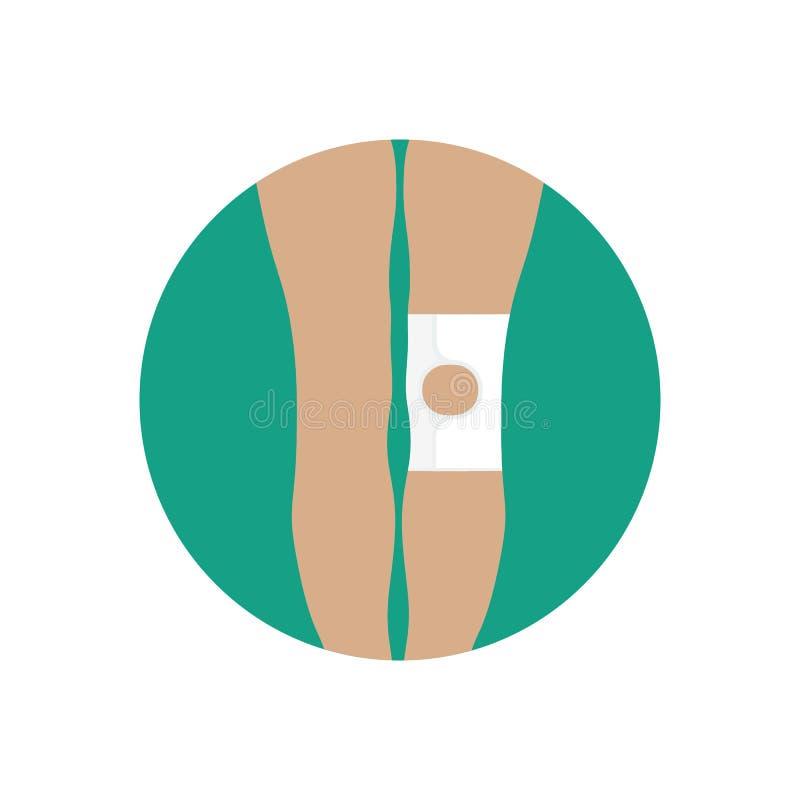 Knie gezamenlijk verband met een open kop vector illustratie