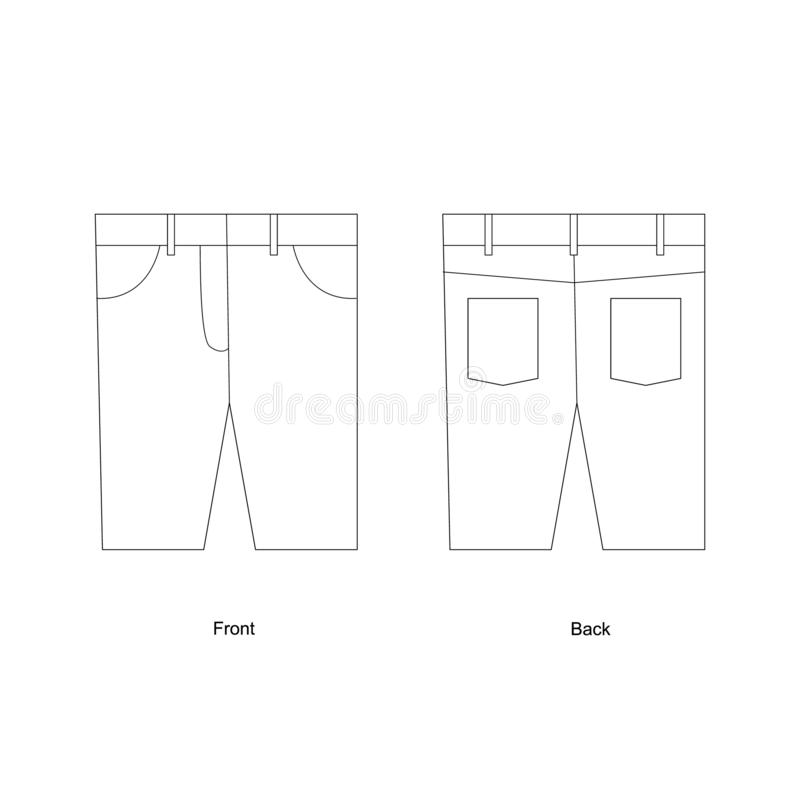Knie-lengte borrels vectorillustratie Van het denimborrels van mensen vector het malplaatjeontwerp stock illustratie