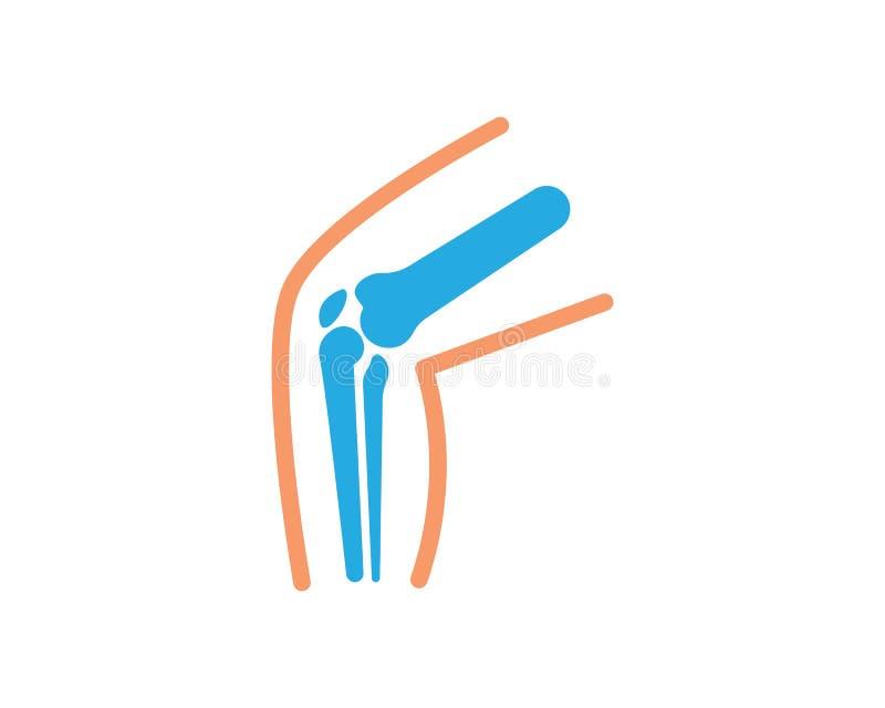 Knochen Fracture_Knee Schmerzknochen Des Beines Vektor..