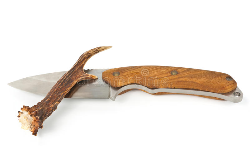 Knife And Antler Royalty Free Stock Photography