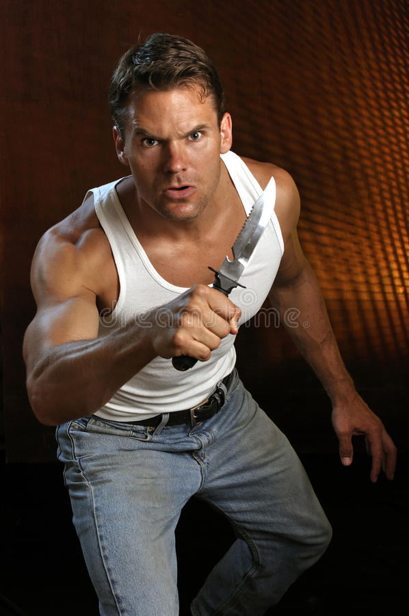 Download Knife attack stock image. Image of caucasian, defend - 31715163