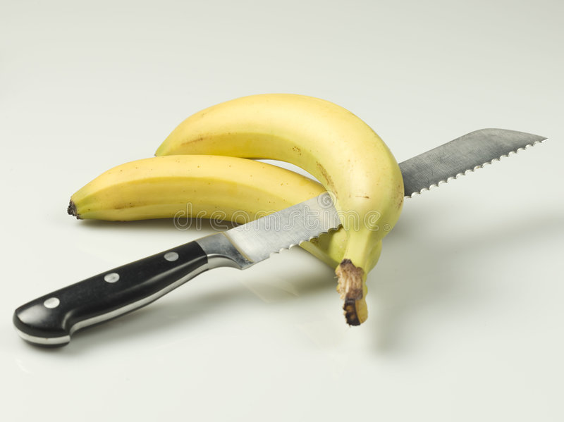 Download Knife and bananas stock photo. Image of banana, teeth - 7429926